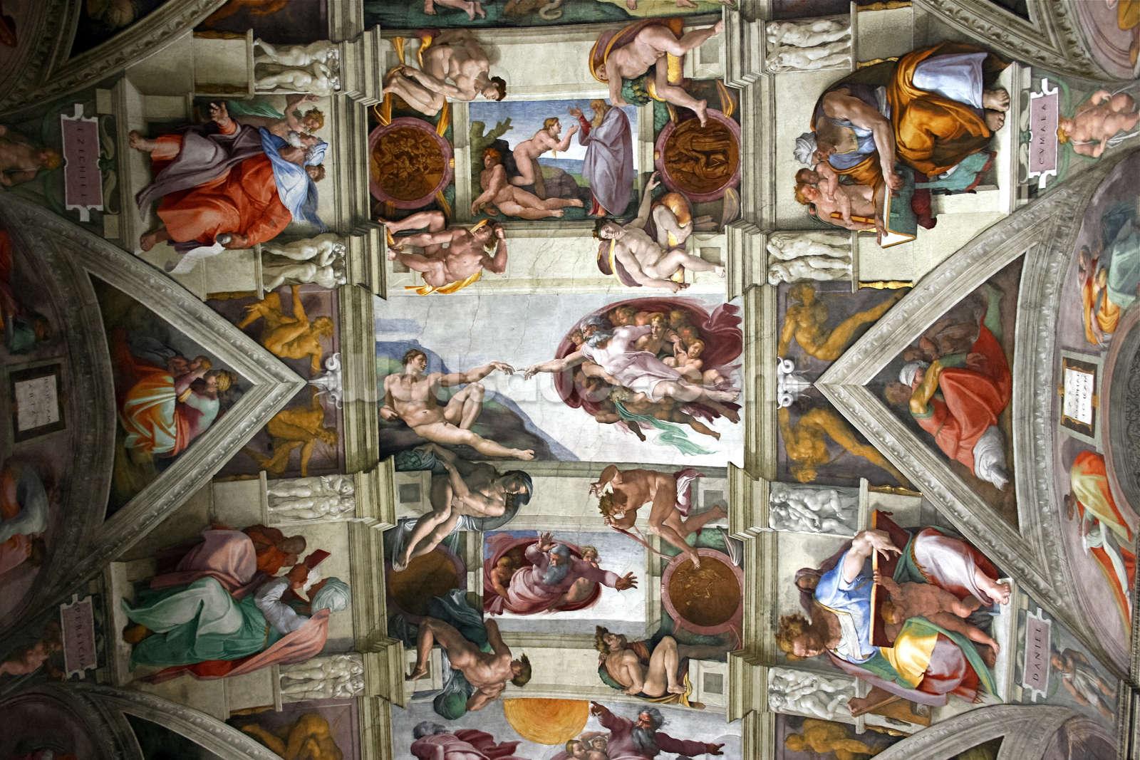Romes Sistine Chapel Wallpaper Mural Wallsauce US 1600x1067