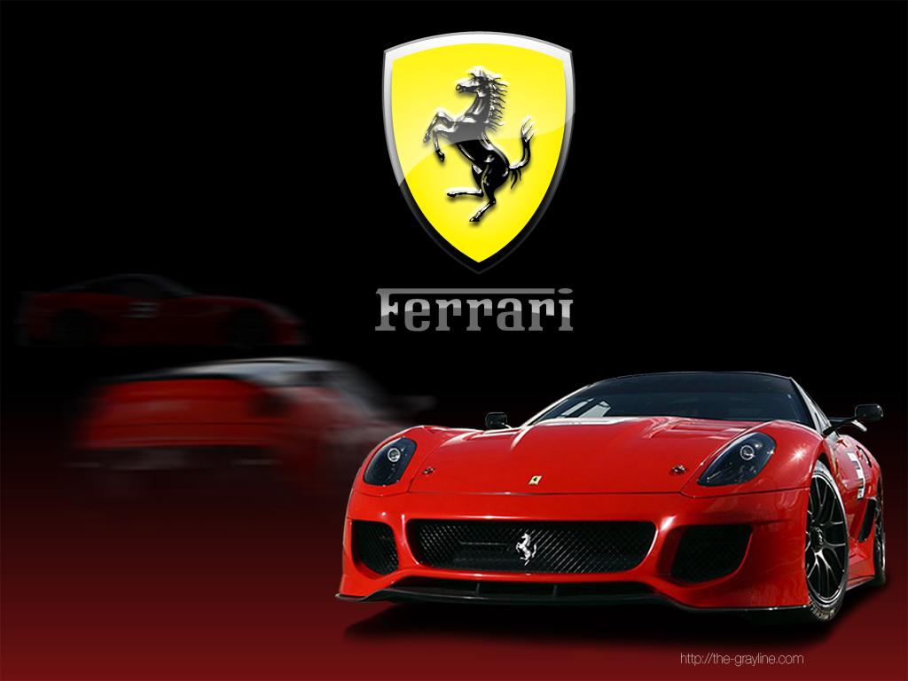 ferrari car and logo desktop wallpaper red - Ferrari Logo Wallpaper