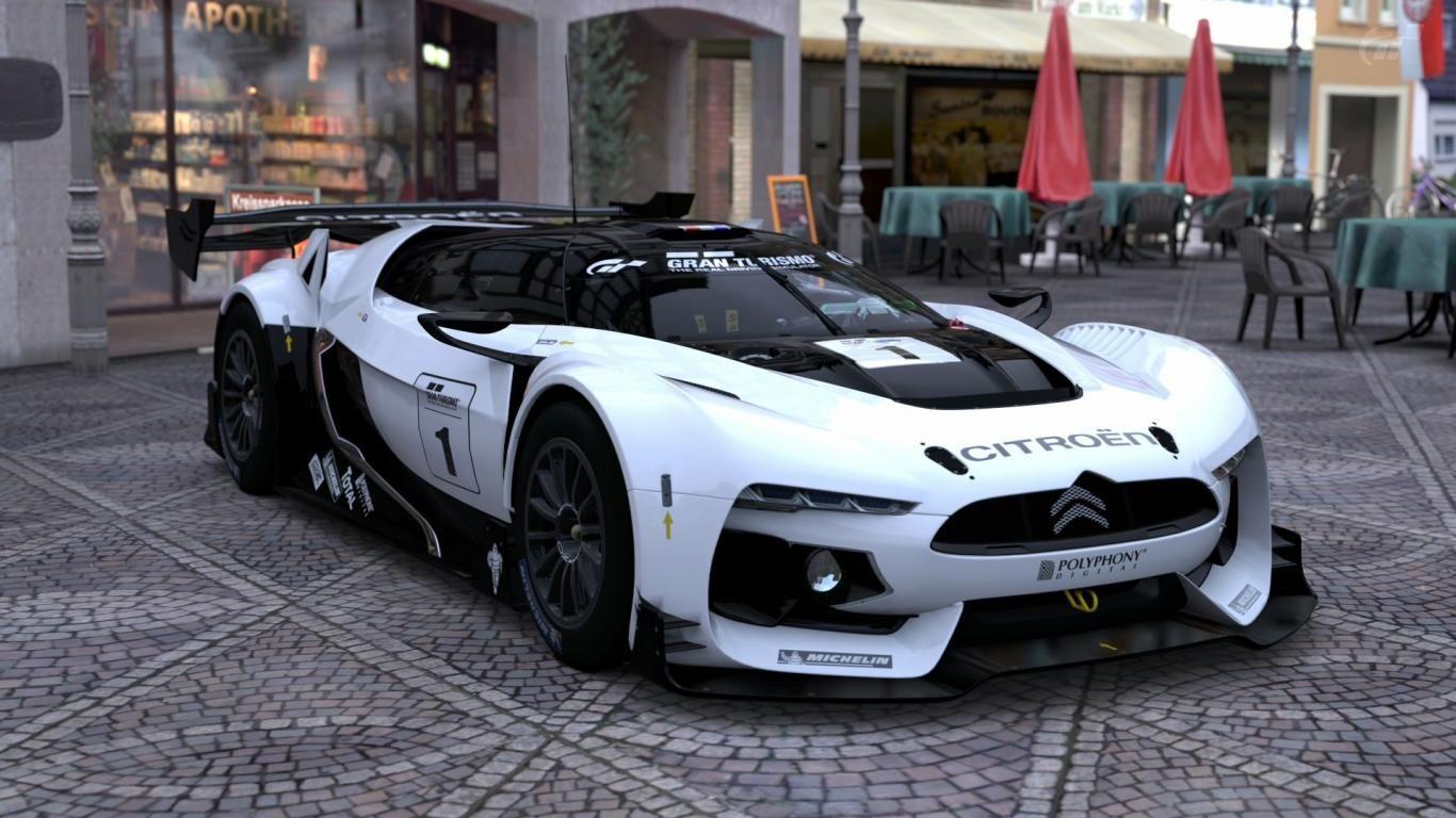 Citroen gt gran turismo wallpapers download Super cars Cars 1366x768