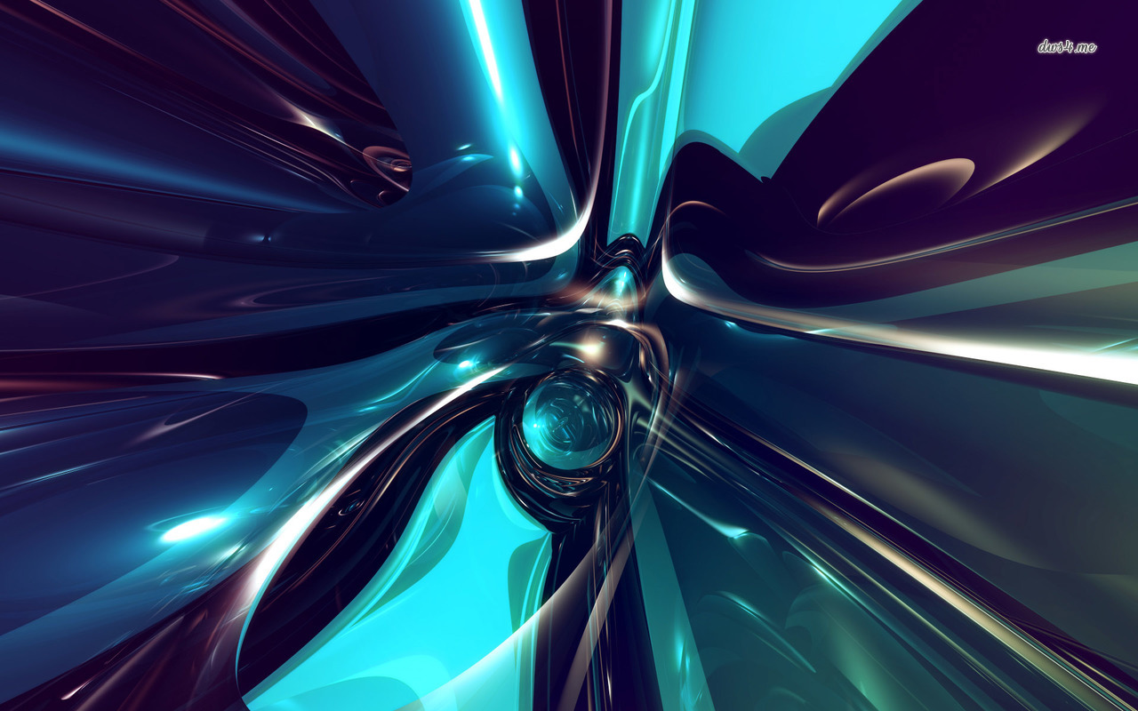 Shiny metallic blue shapes wallpaper   Abstract wallpapers   44908 1280x800