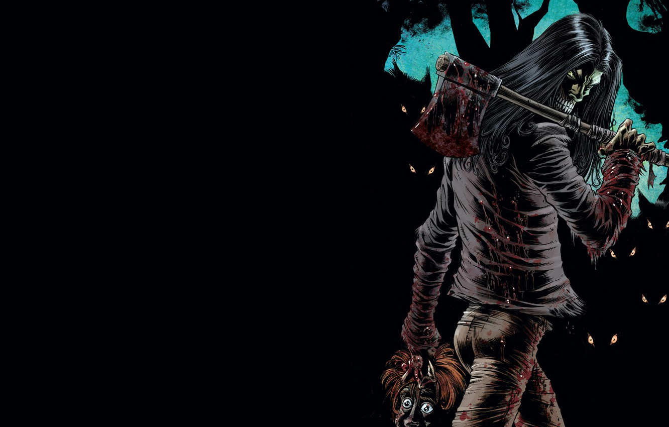 Wallpaper axe demonic beheaded humanoid creature images for 1332x850