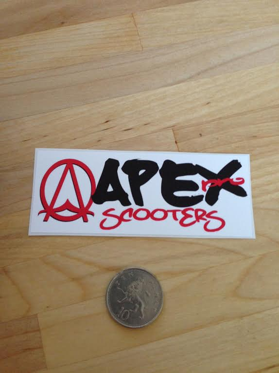 Glossy Vinyl Stickers   Apex Pro Scooter Decal 574x765