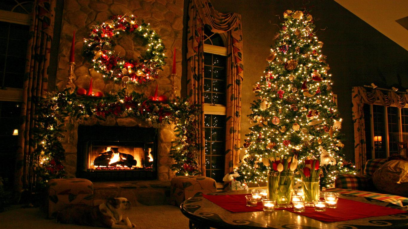 [44+] Free Christmas Desktop Wallpaper 1366x768 on ...