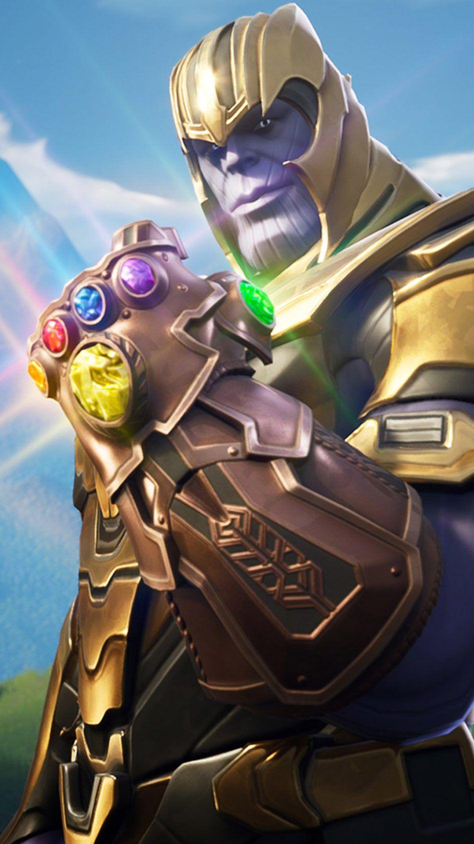 Thanos In Fortnite Battle Royale superhero Mobile wallpaper 950x1689
