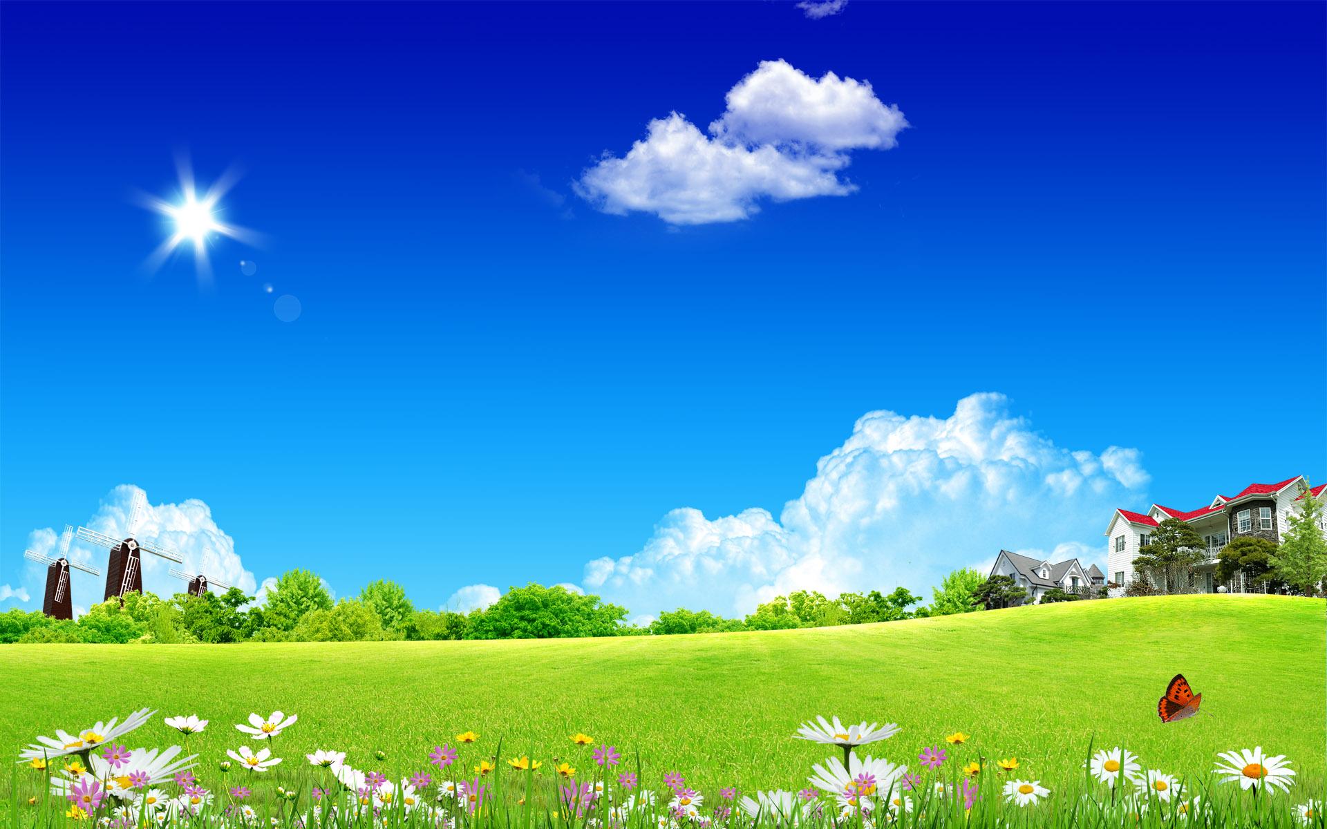 summer fantasy landscape for desktop wallpaper 1920x1200