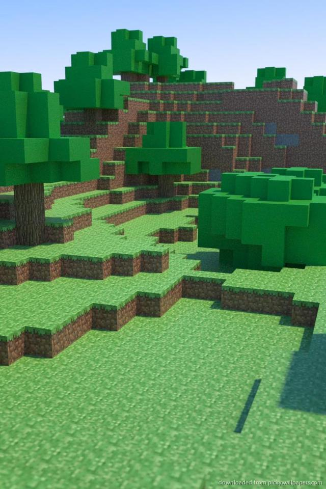 Download Minecraft Nature Wallpaper For iPhone 4 640x960