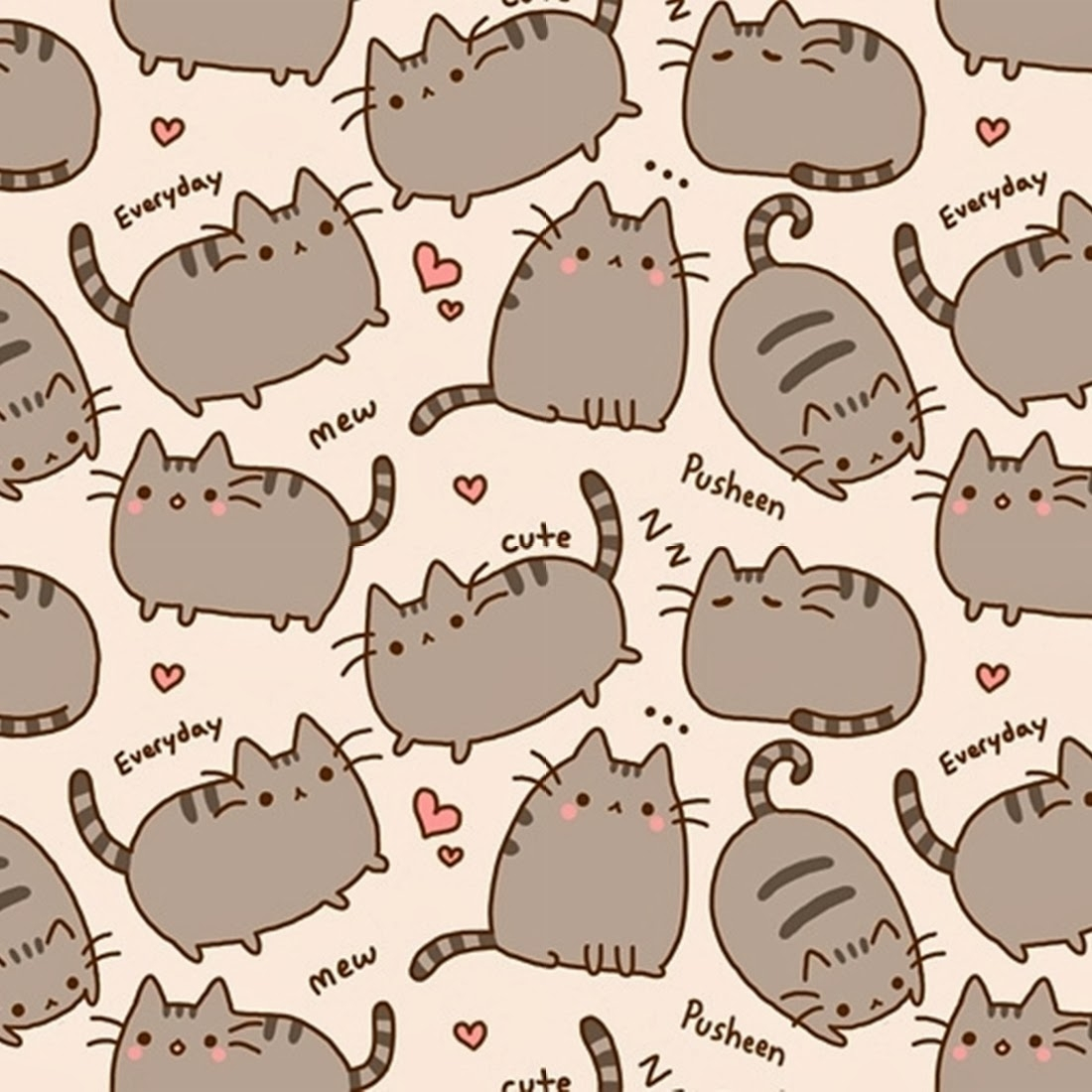 pusheen background   Backgrounds Picture 232588 1100x1100