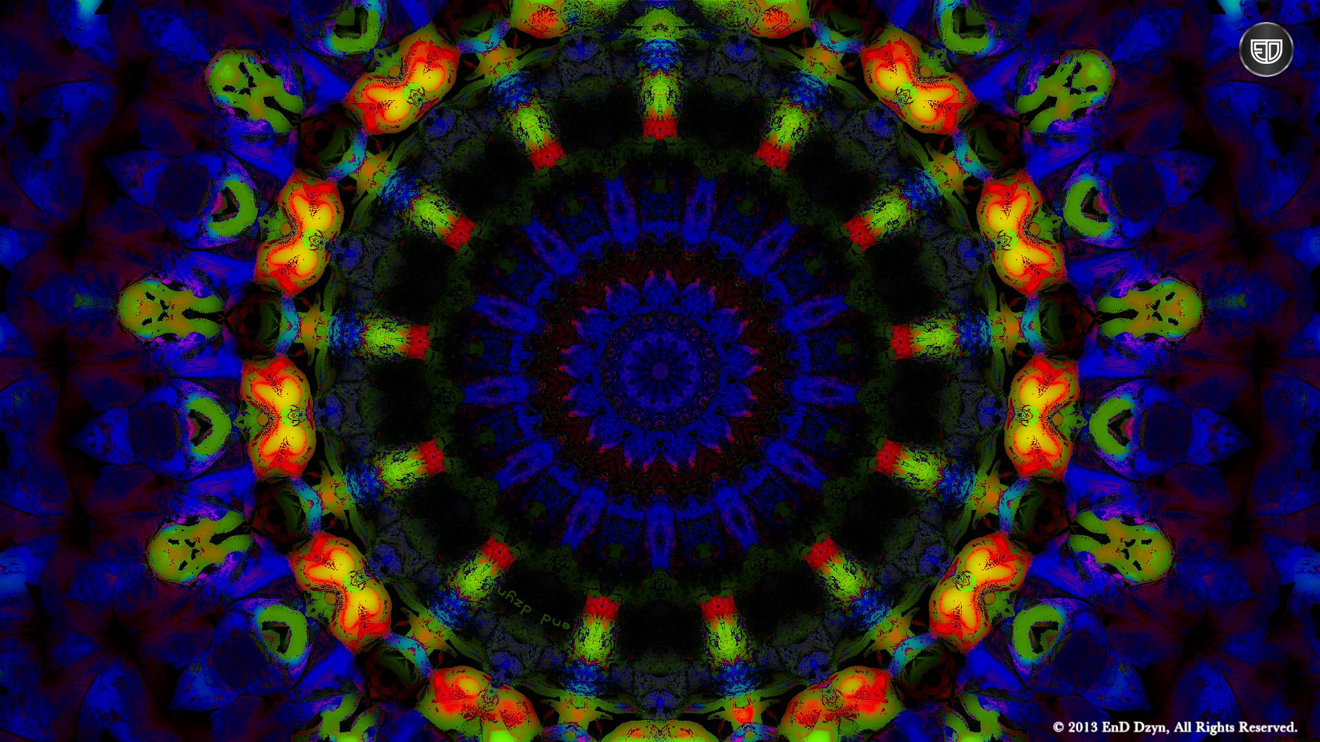 Psychedelic HD Background Wallpaper Blue Orange Trippy 3D 1920x1080