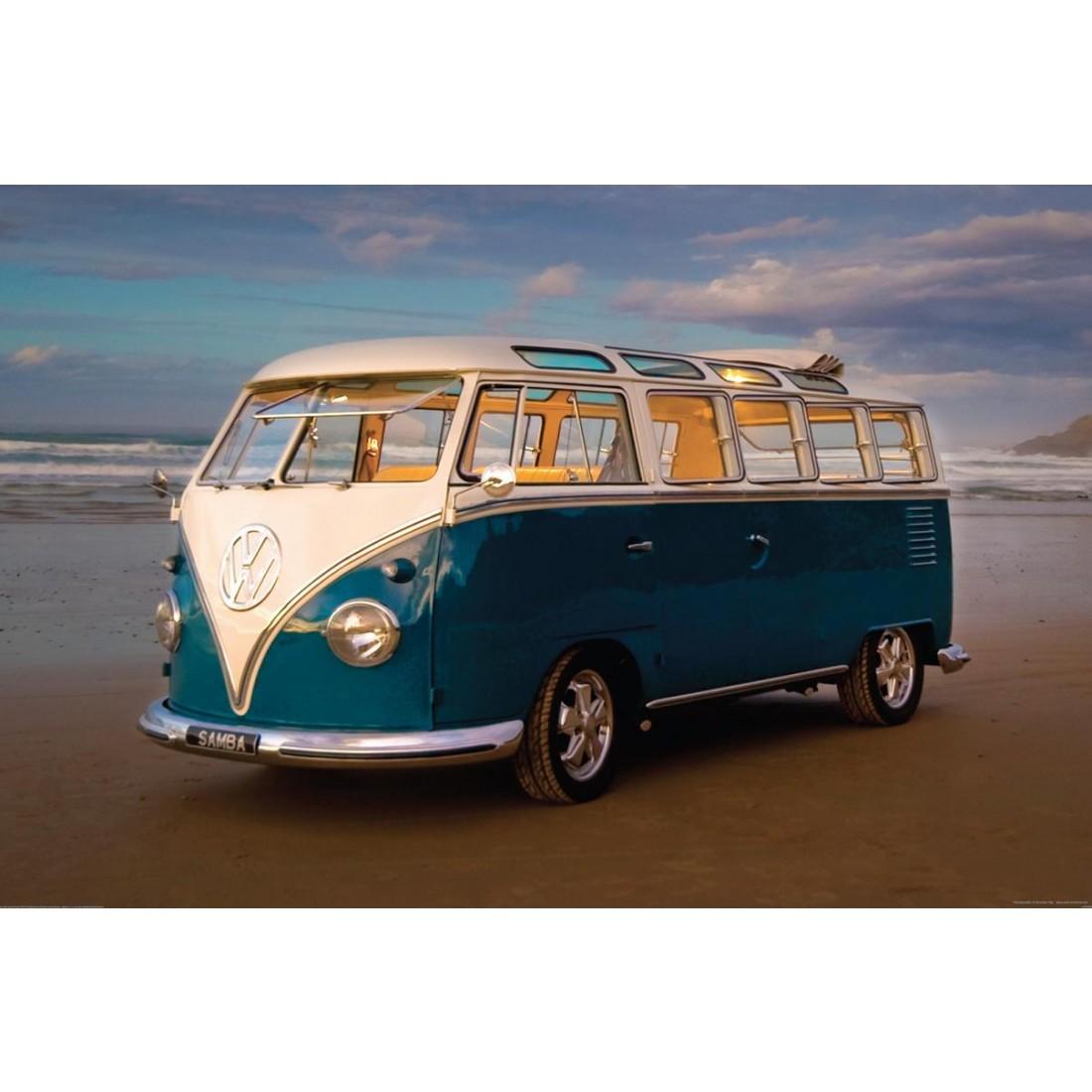 Volkswagen VW Campervan Wall Mural 158m x 232m 1Wall 1100x1100