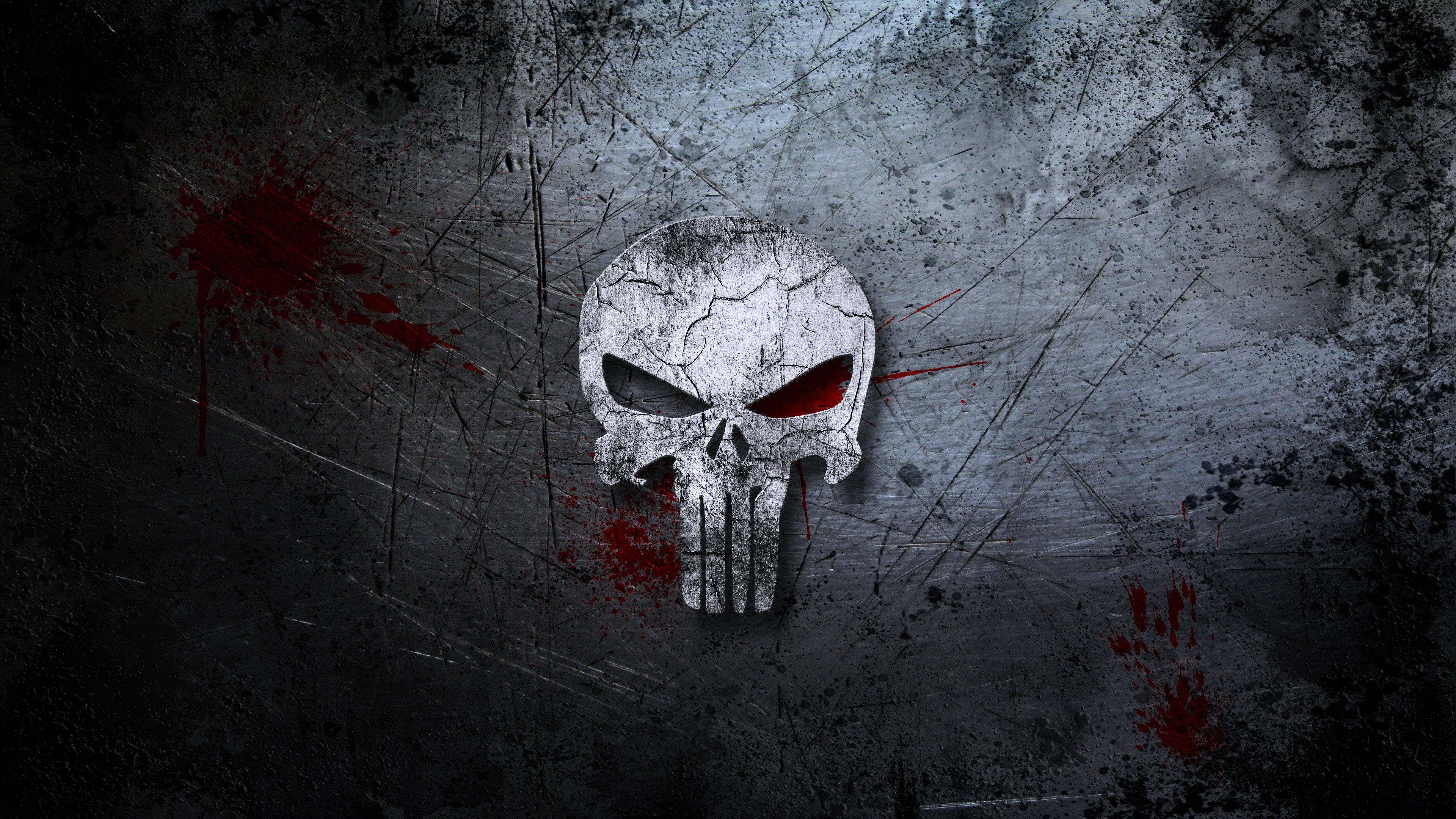 Punisher skull background blood scratches movies wall ...