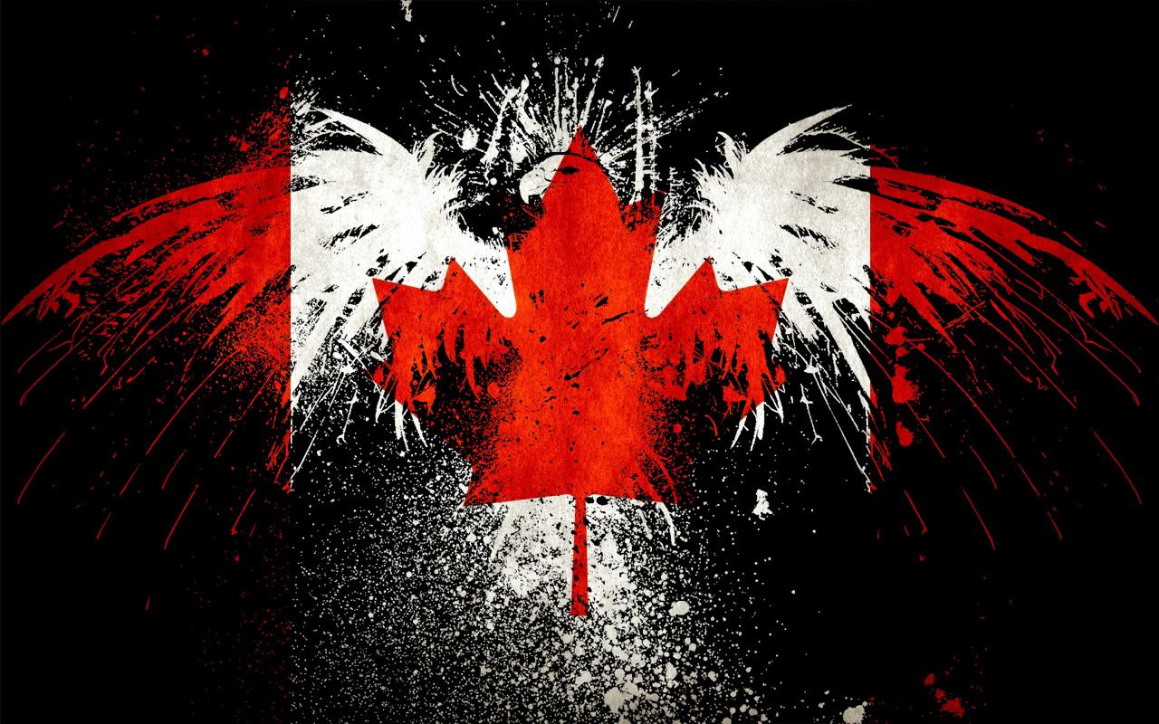 канадский флаг обои для рабочего стола № 506409 загрузить