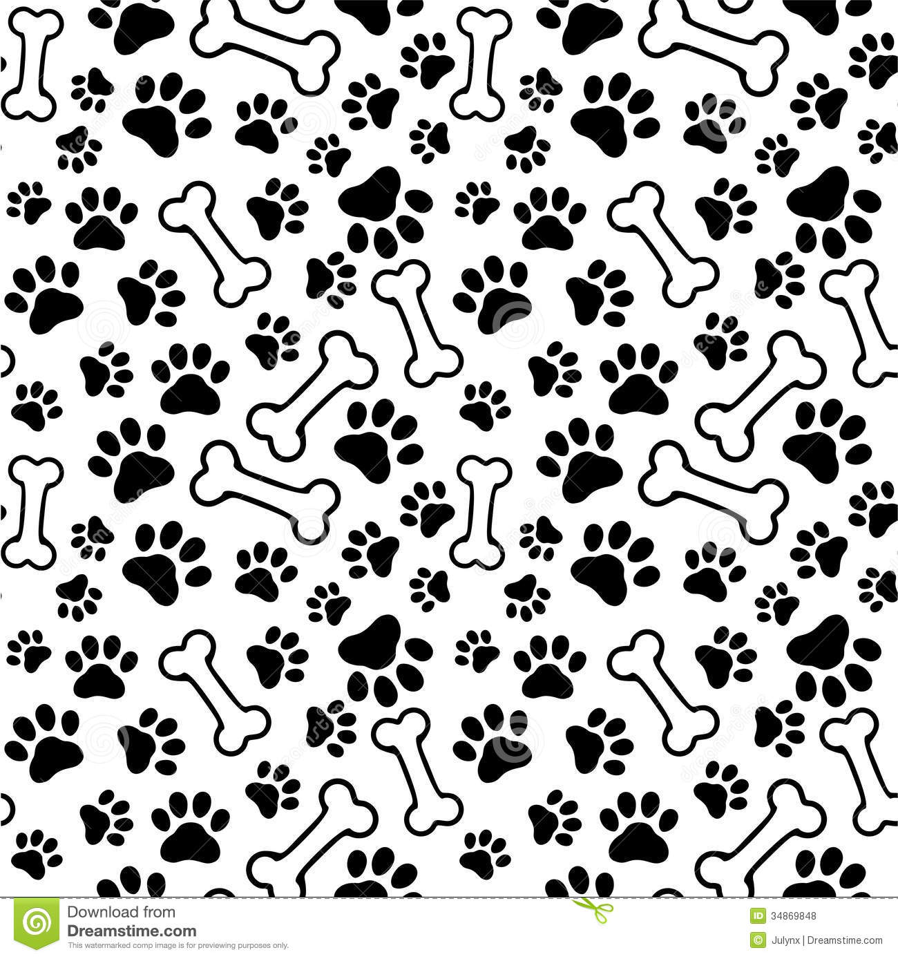Dog Print Wallpaper dog bone wallpaper - wallpapersafari
