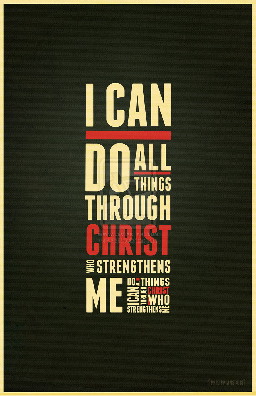 I Can Do All Things Through Christ Iphone Wallpaper