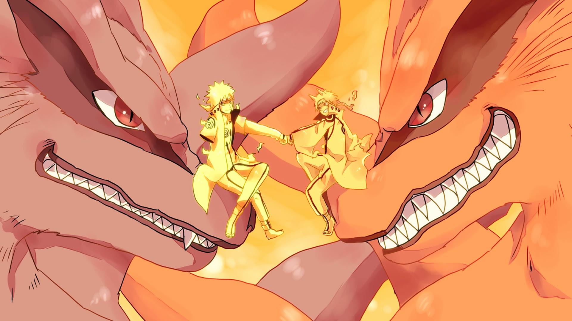 Minato and Naruto Kyuubi 3f Wallpaper HD 1920x1080