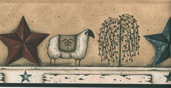 Pin Primitive Wallpaper Borders Folk Art 562x290