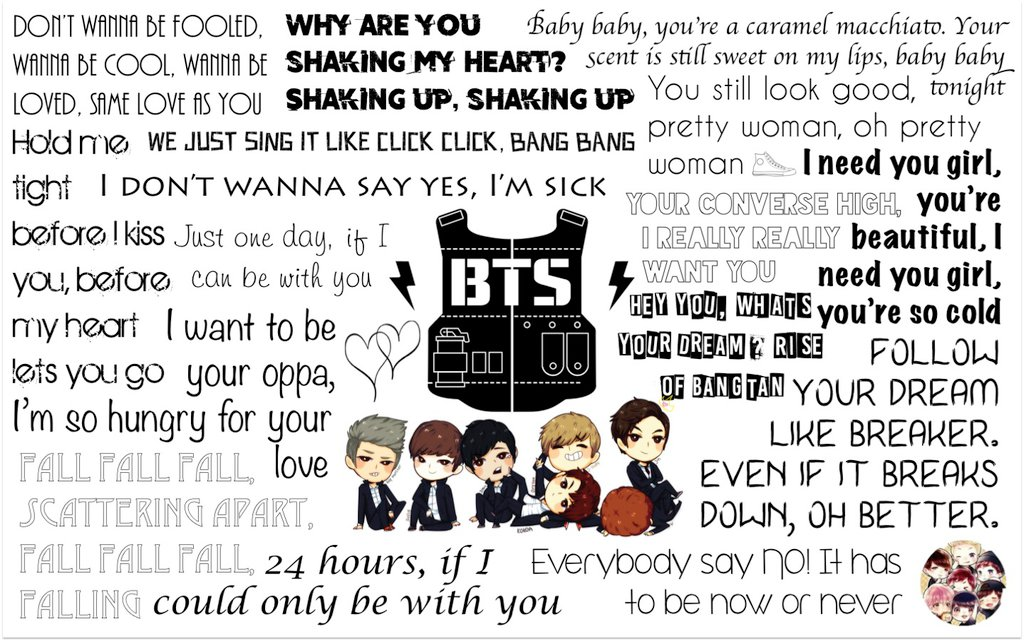Bangtan Boys BTS Lyrics Wallpaper by MysGirl88 on DeviantArt