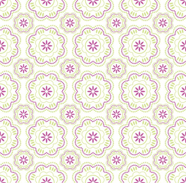 Wallpaper pattern Vector Graphic beautiful flower color two 600x592