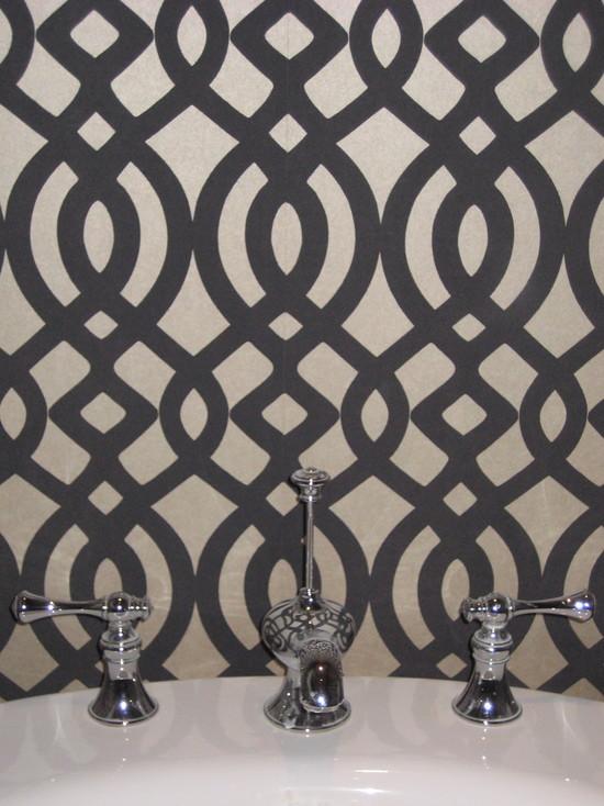 Du Barry Wallpaper   Contemporary   bathroom   Niche Interiors 550x734