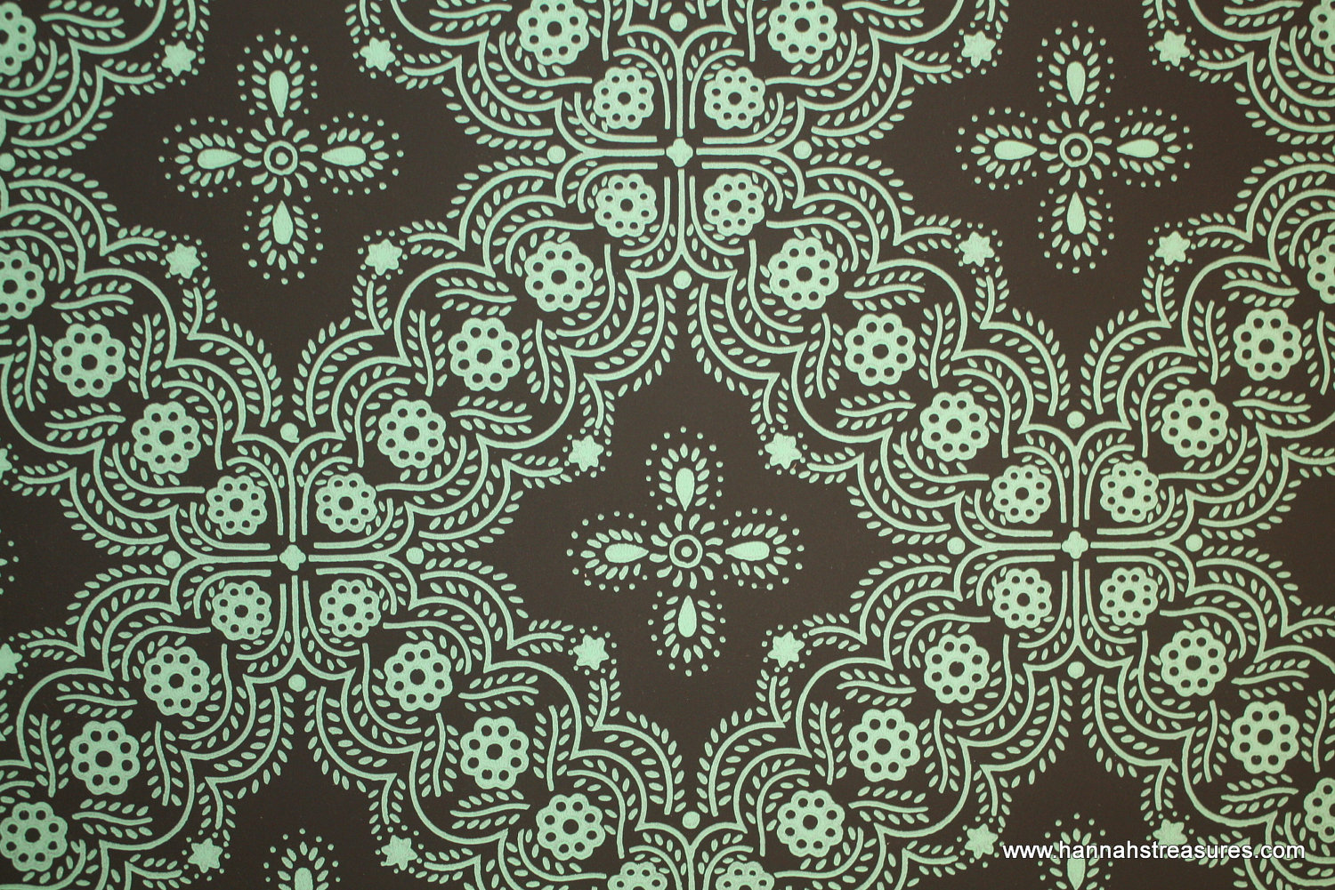 1940s Vintage Wallpaper Mint Green Geometric by HannahsTreasures 1500x1001