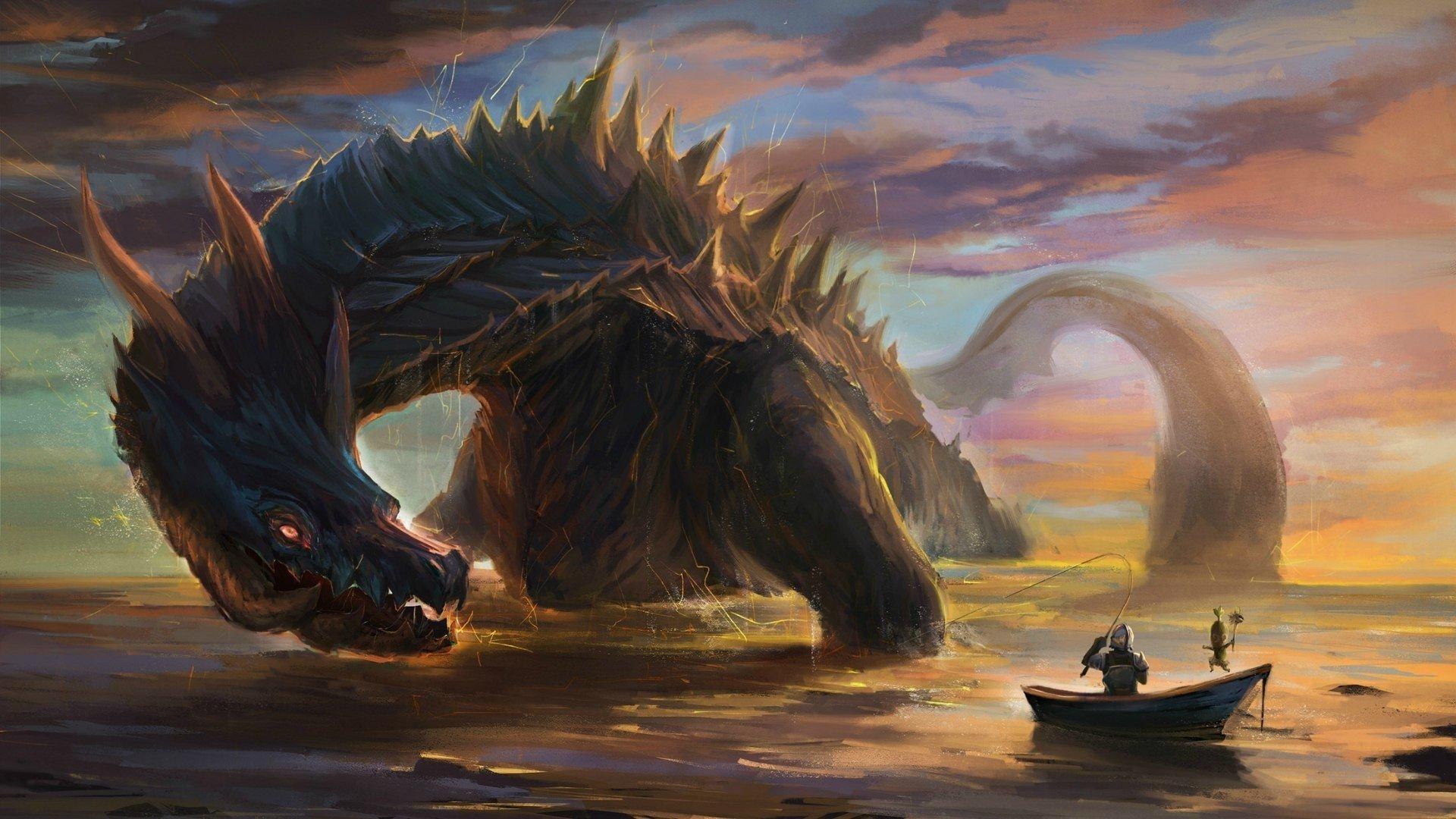MONSTER HUNTER online mmo rpg fantasy hunting 1mhf action dragon 1920x1080