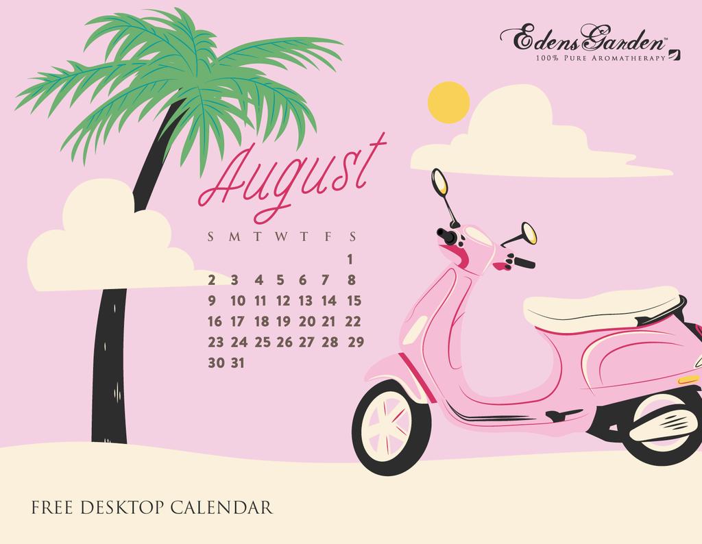 August 2015 Wallpaper Calendar Edens Garden 1024x794