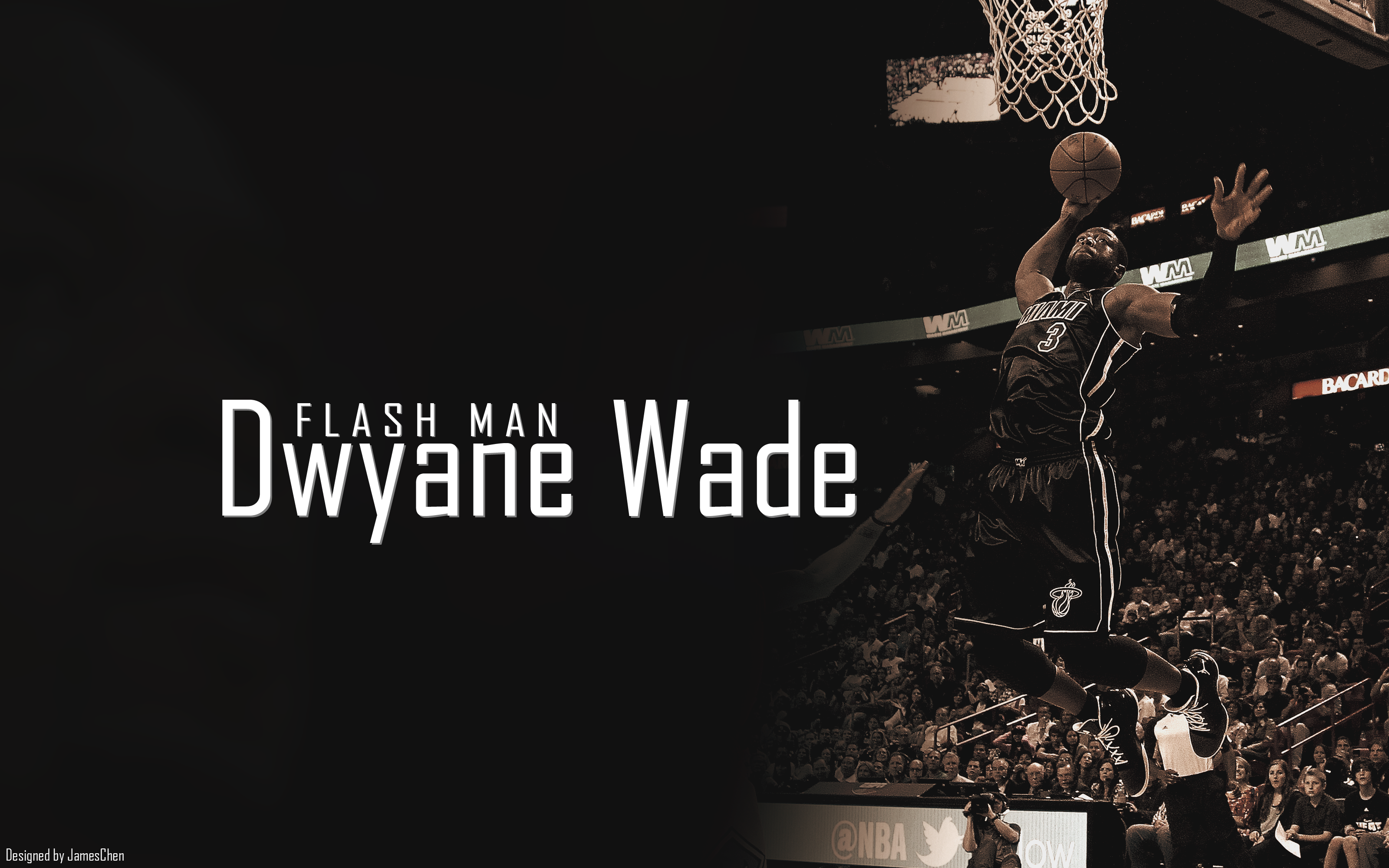 Dwyane Wade the Flash Man Fast and Talented   NBA Image as Computer 3200x2000