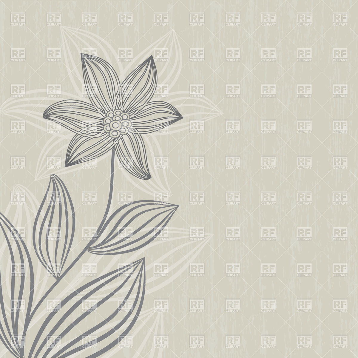 Gray flower on grunge beige background 23801 download royalty free 1200x1200