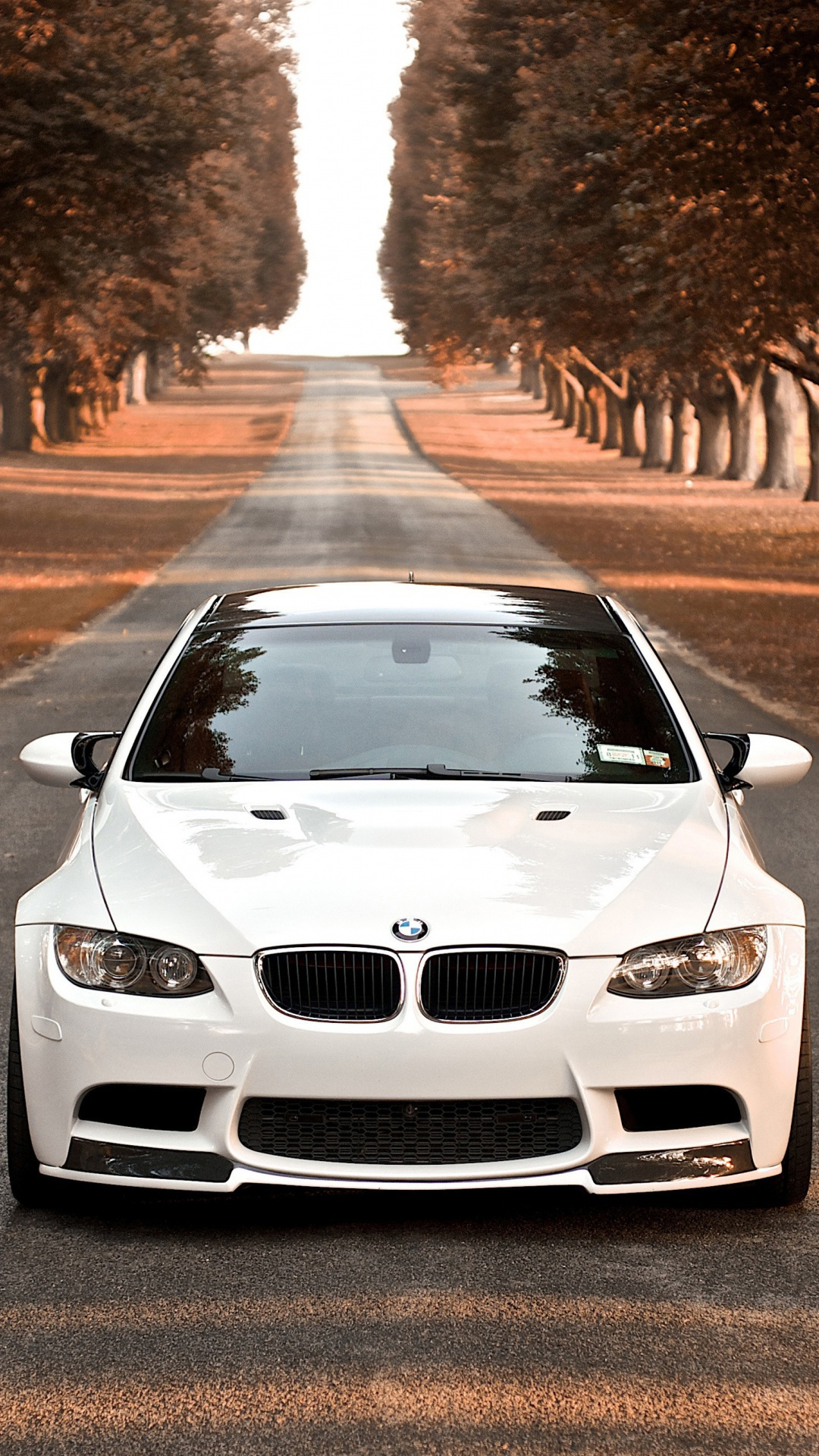 BMW M3 Branca Android Wallpaper download 1080x1920