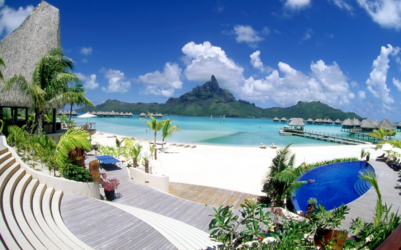 Bora Bora   Paradise Island Hd Desktop Wallpaper 1280x800