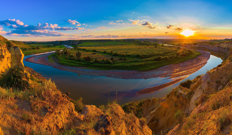 Wallpaper Roosevelt Sunrisesusa Park Grasslands And Sunsets 6000x3500