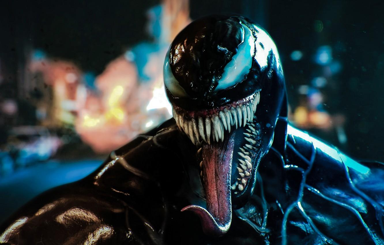 Wallpaper language lights background alien Venom Venom 1332x850