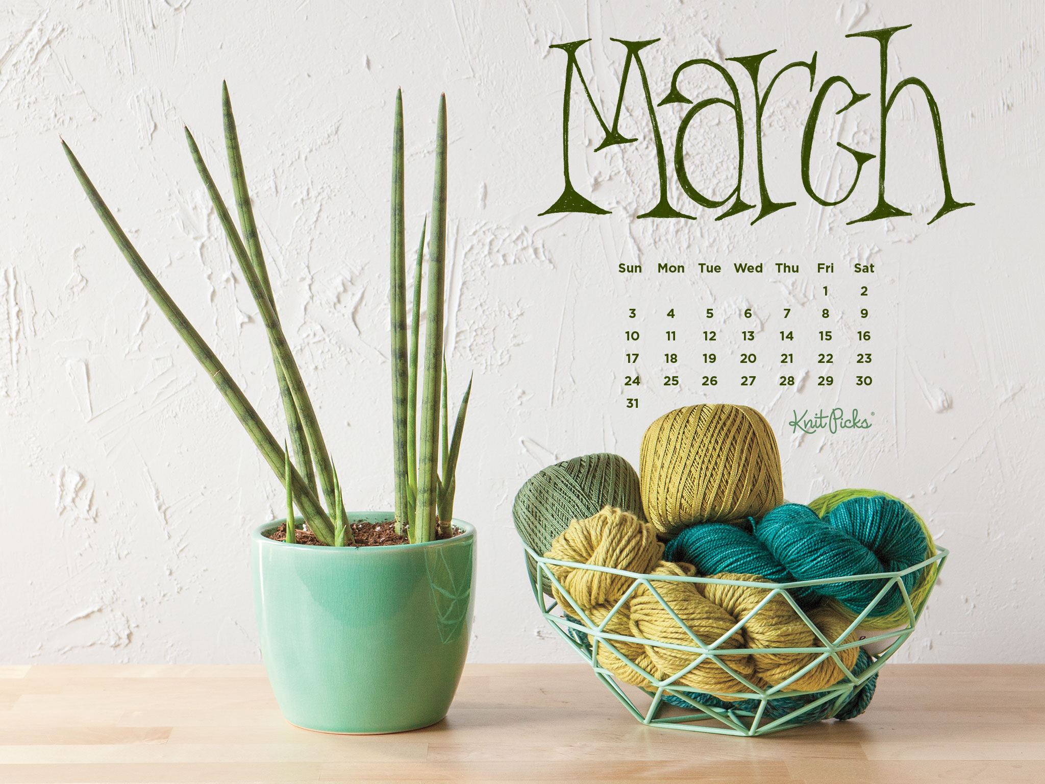 Downloadable March 2019 Calendar   KnitPicks Staff Knitting Blog 2048x1536