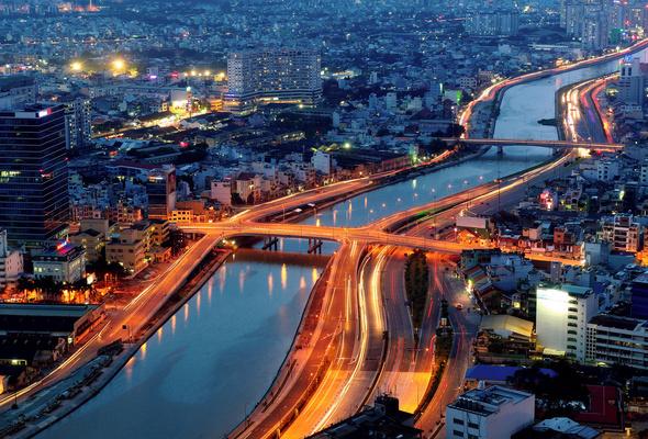 Wallpaper vietnam city saigon river evening desktop wallpaper 590x400