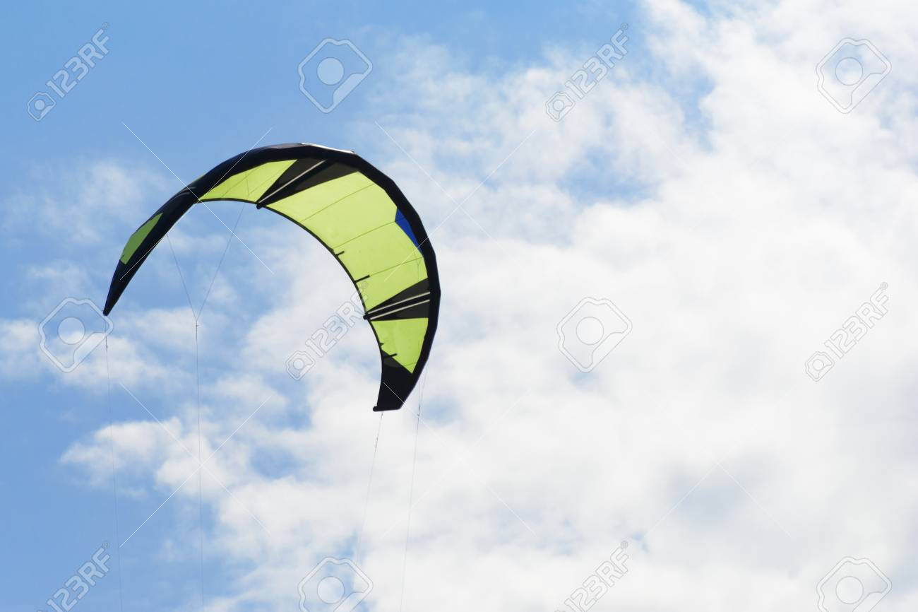 Kiteboarding Kite Close up Blue Sky With Clouds In Background 1300x866