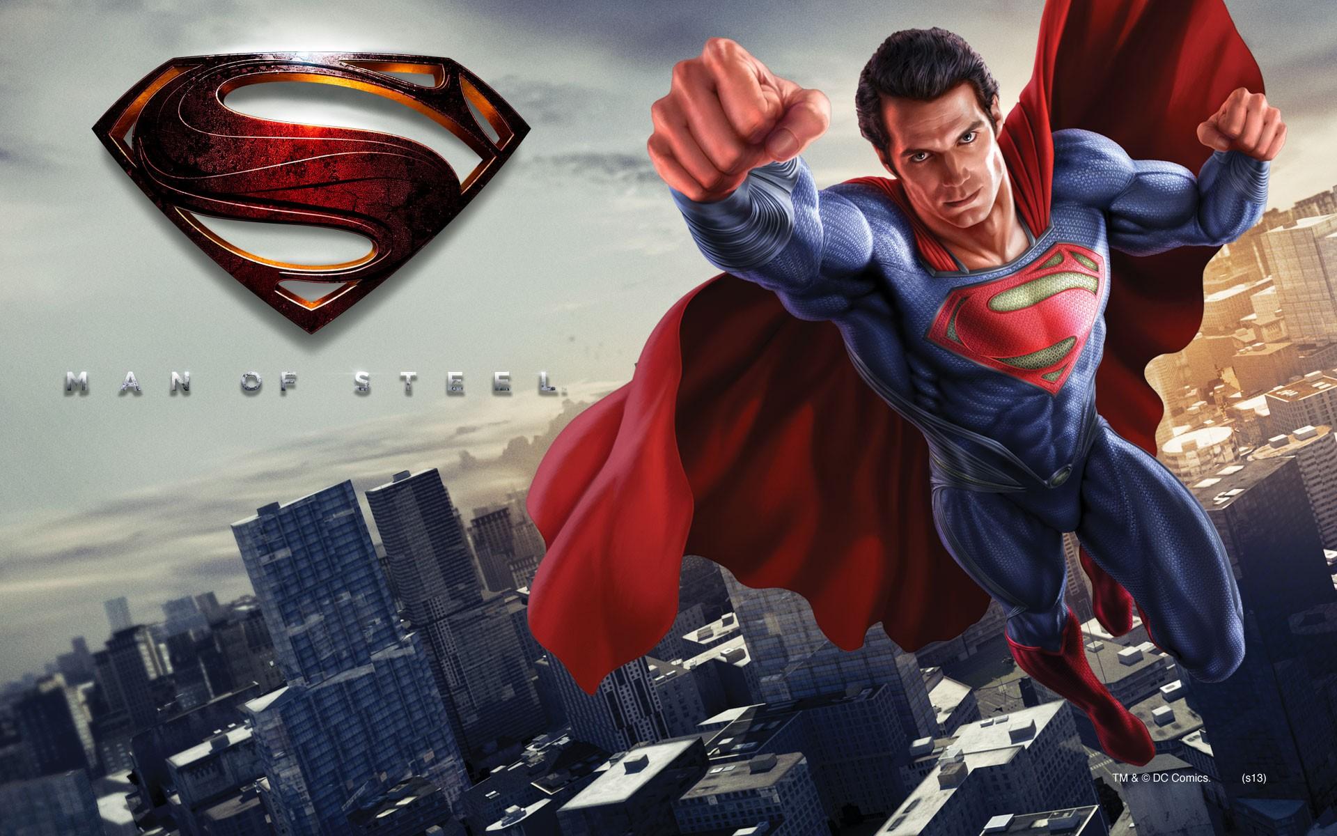 Superman Man Of Steel Wallpaper Flying