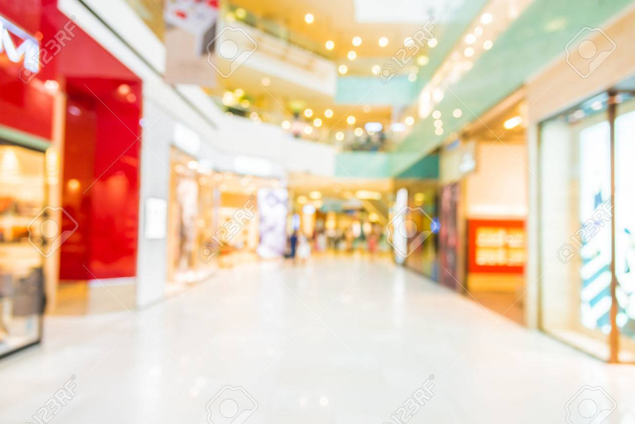 Abstract Blur Shopping Mall Background Stock Photo Picture And 1300x867