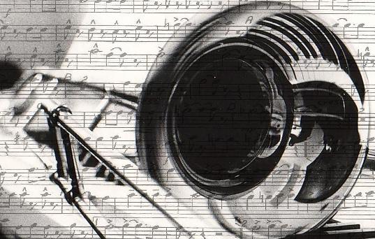 3d Jazz Music Wallpapers: Trombone Wallpaper