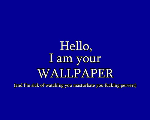 Hello i am your wallpaper Flickr   Photo Sharing 500x400