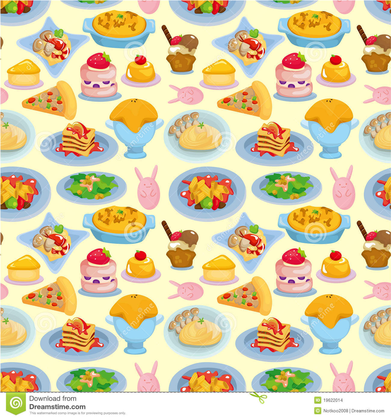 Cartoon Food Wallpaper