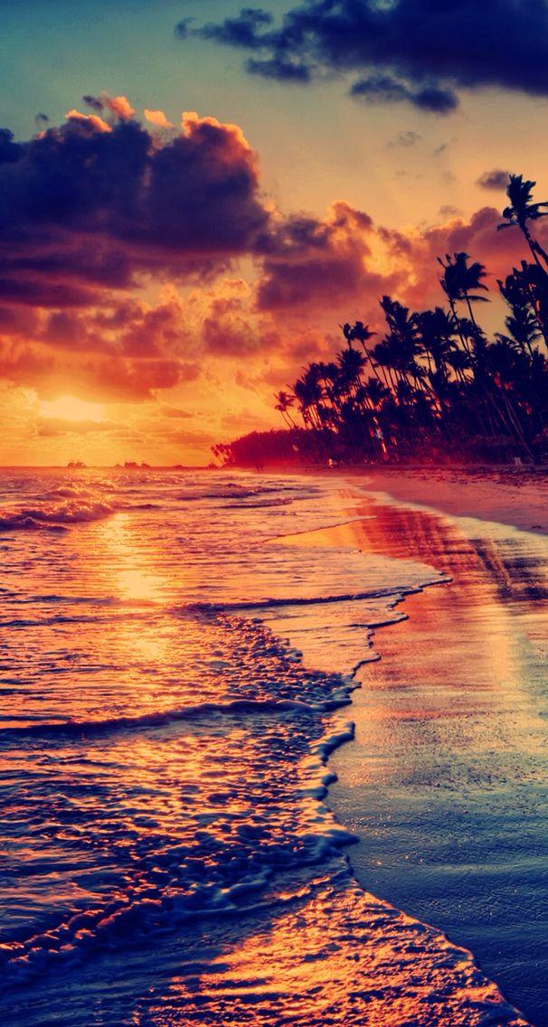 Atardecer Fondos de pantalla Iphone 5s wallpaper Beach 606x1136