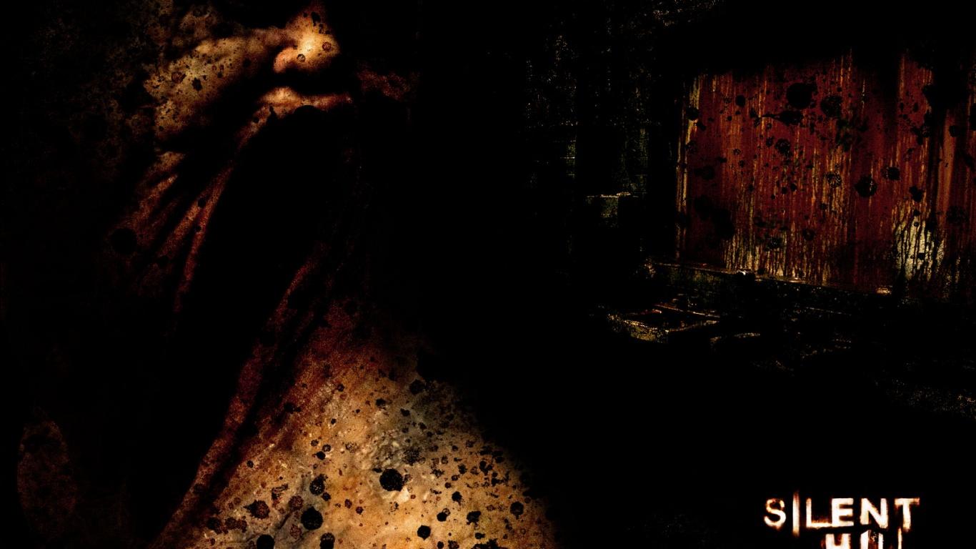 1366x768 Silent Hill black desktop PC and Mac wallpaper 1366x768