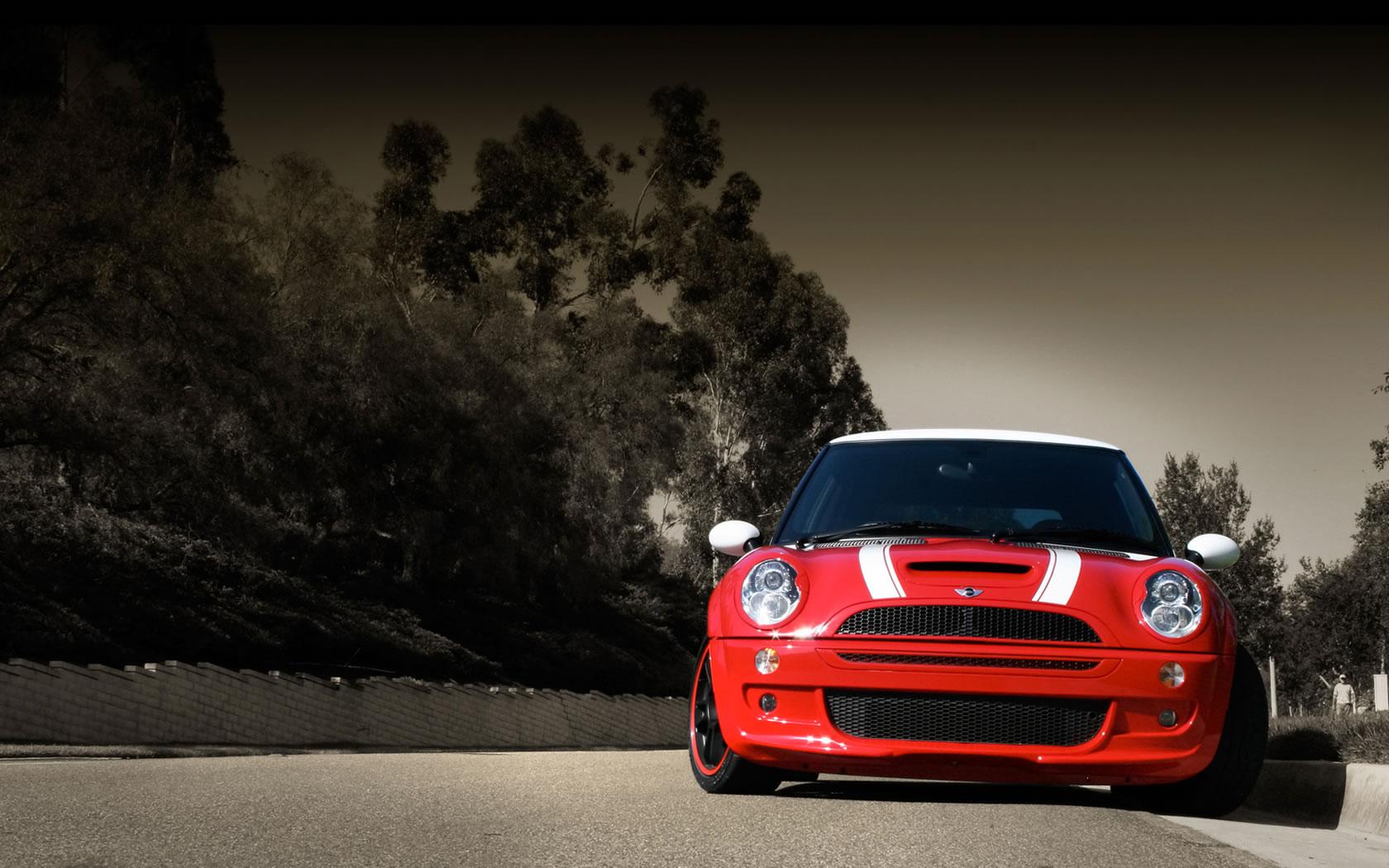Download the Race Red Mini Cooper Wallpaper Race Red Mini Cooper 1680x1050