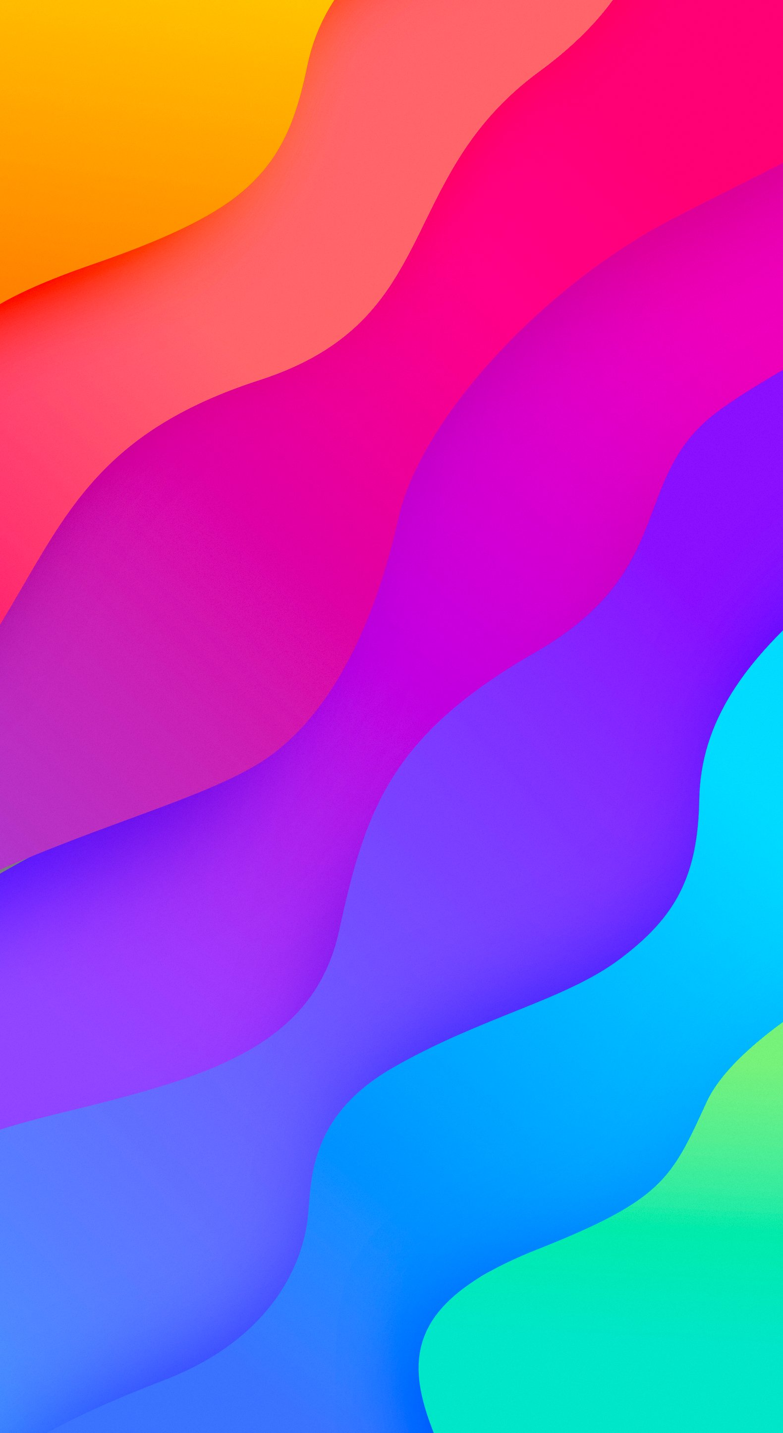 Wavy A set of vibrant wallpapers 1580x2890