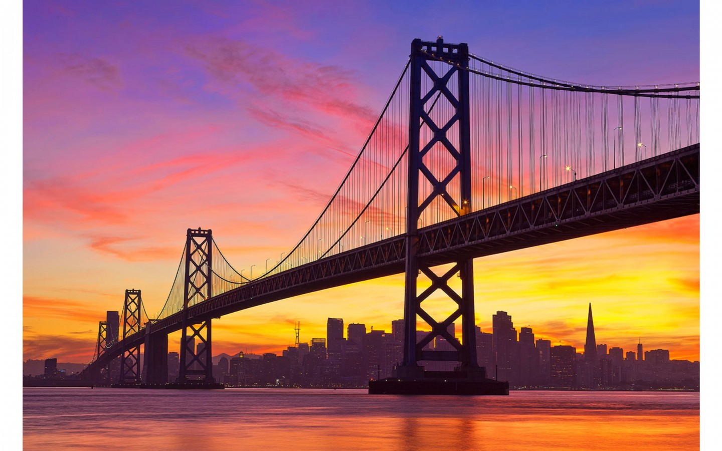 Amazing Sunrise 4K San Francisco Wallpaper 4K Wallpaper 1440x900