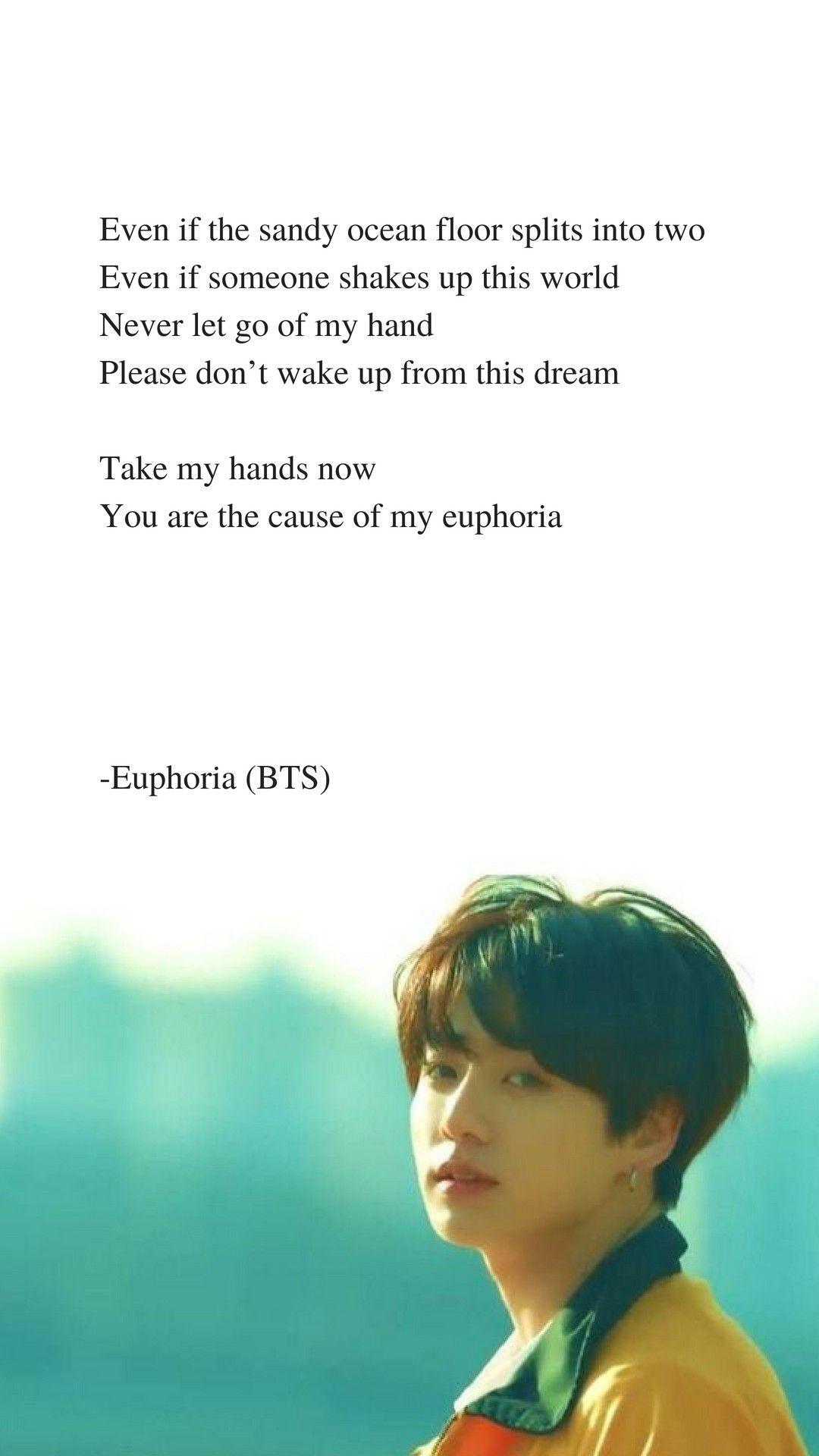 48237781 Euphoria by BTS Jungkook Lyrics wallpaper BTS Lyrics 1080x1920