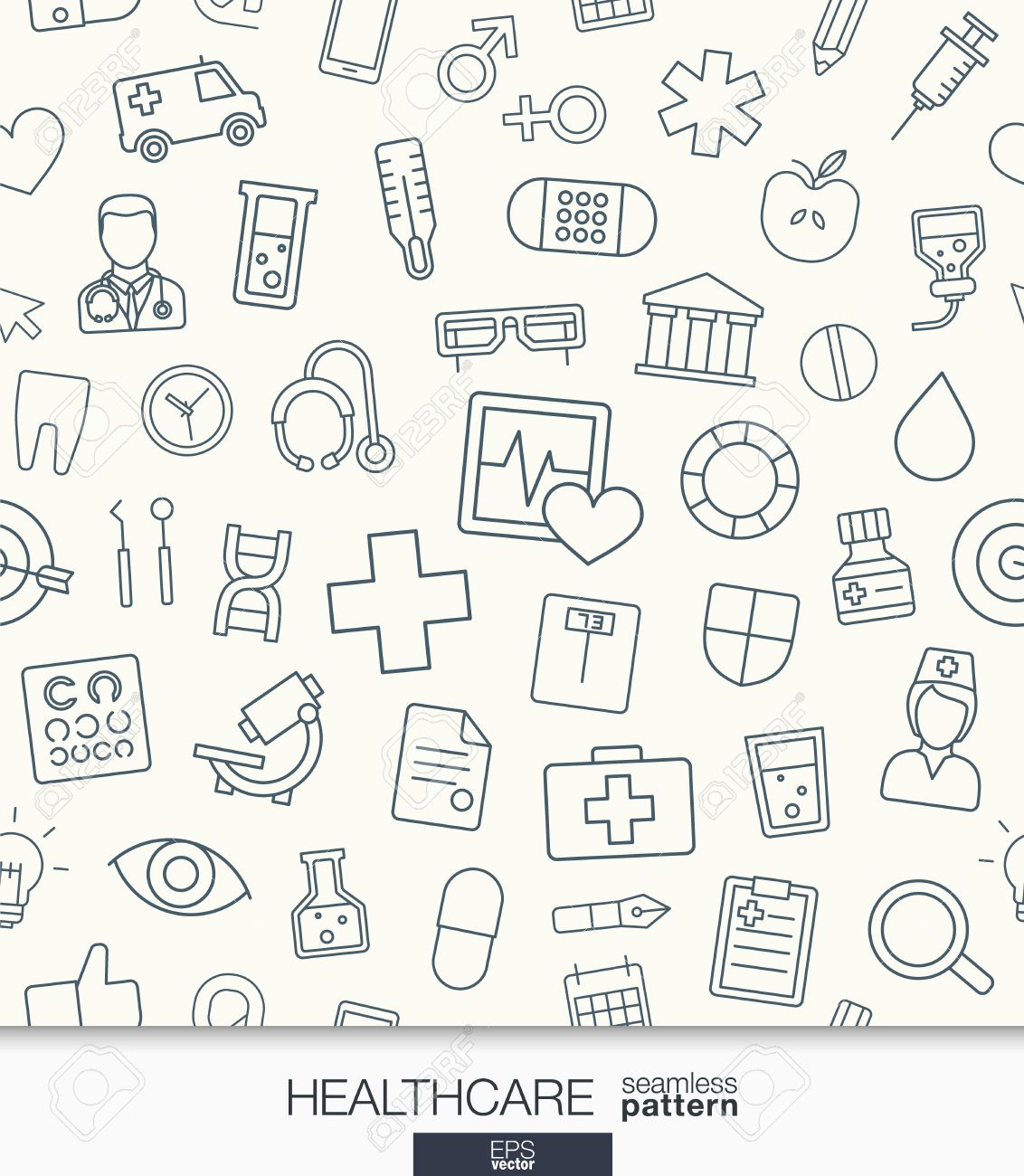 Healthcare Wallpaper Medical Seamless Pattern Tiling Textures 1132x1300