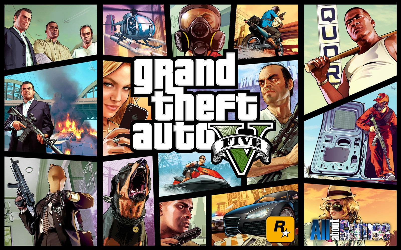 Grand Theft Auto V Wallpaper by eduard2009 1600x1000