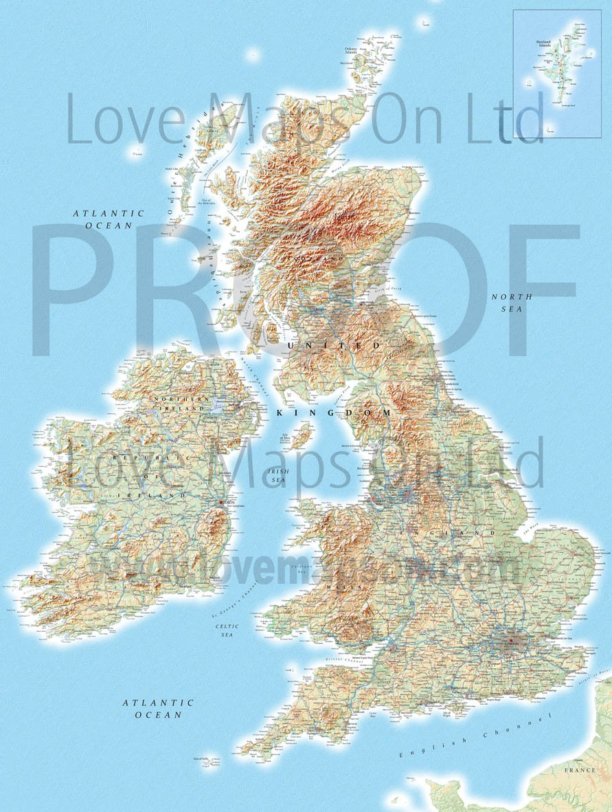 Map Wallpaper   British Isles from Love Maps On 891x1181