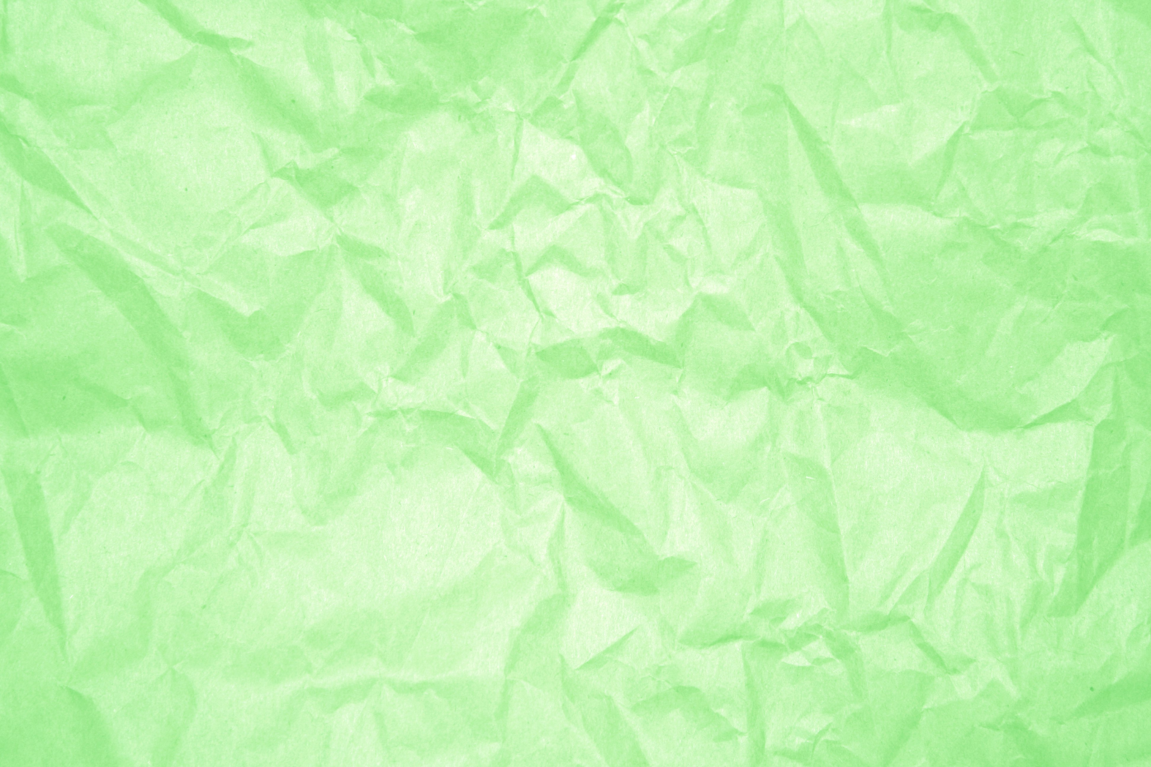 Crumpled Light Green Paper Texture Picture 3888x2592