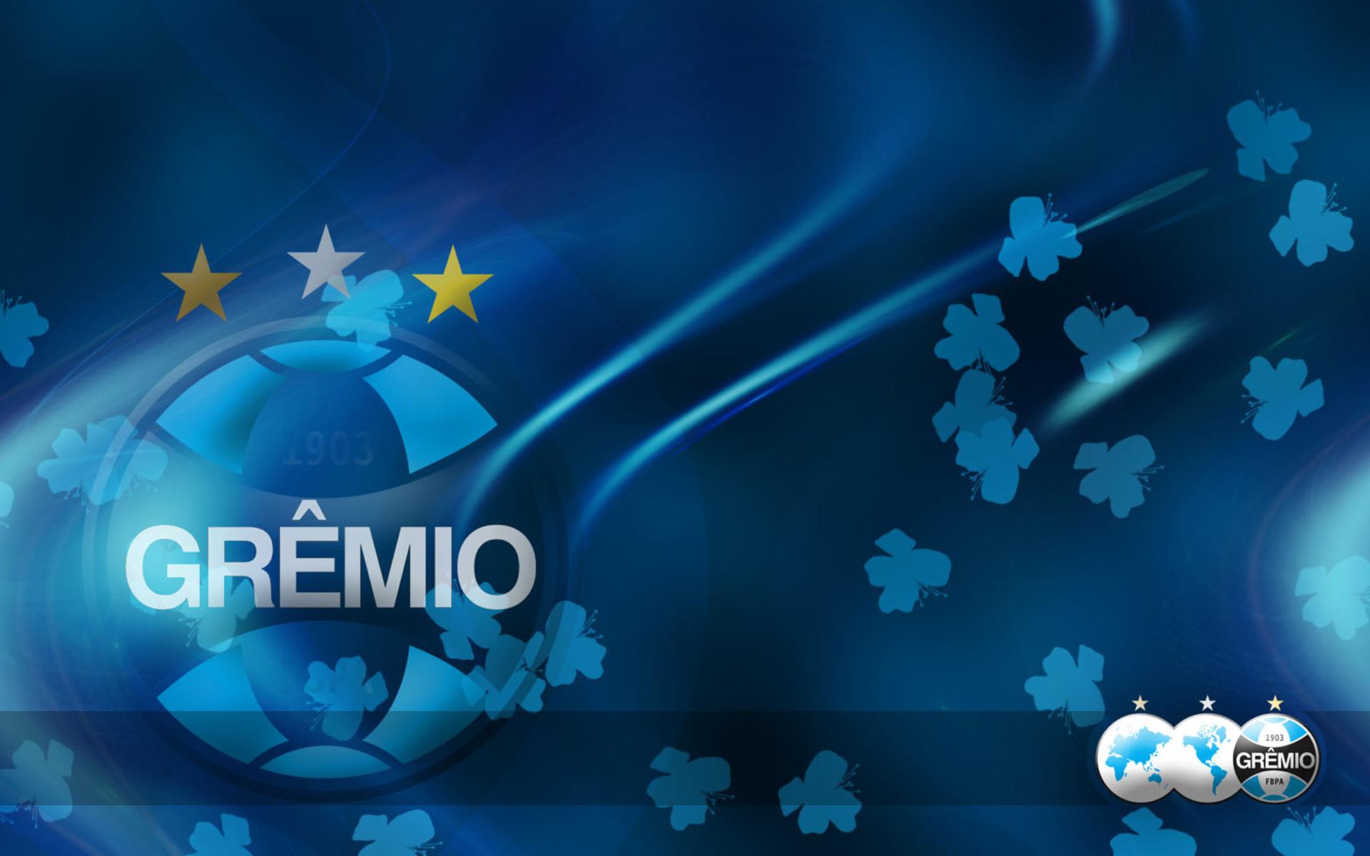 Download wallpapers Gremio FC fan art logo Brazilian Serie A 1920x1200